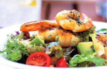 Prawn Avocado and Cherry Tomato Salad