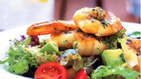 Prawn Avocado and Cherry Tomato Salad